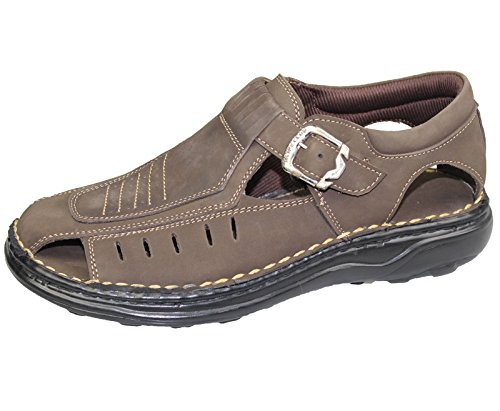 Buckle Sandals Marcher Mode Casual Summer Beach Slipper Chaussures en cuir pour homme brown