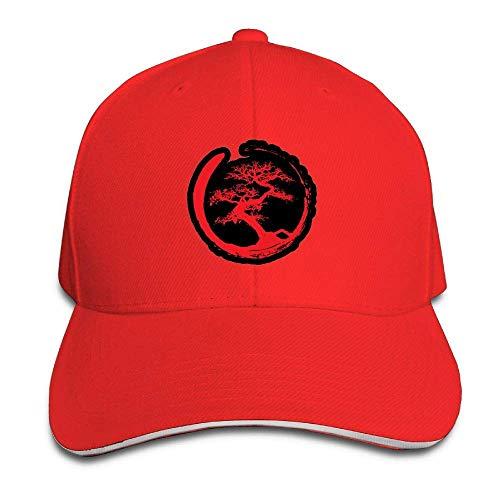 Ynjgqeo Zen Bonsai Tree in Enso Circle Dad Hat Adjustable Hat Trucker Cap Baseball Hat