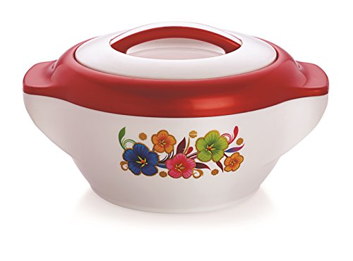 Casserole 1000, Pearl Roex, 1 Liters Casserole Hot Pot, Insulated Serving Hot Pot with Inner, Stainless Steel Casserole, (Rolex1500 Red)  available at amazon for Rs.259