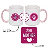 Unique Gifts for Mother, Giftsmate Best Mother Coffee Mug Gift set for Mother with Coaster, Gifts for Mother, Birthday Gifts for Mom
