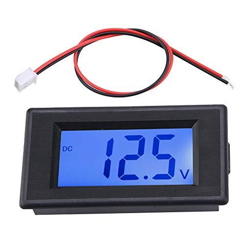 Dual Display Digital Voltmeter, Zwei Draht DC Spannungsprüfer LCD Flüssigkristallanzeige, Digitalvoltmeter 4-30V hohe Präzision mit Verpolungsschutz Lcd-voltmeter