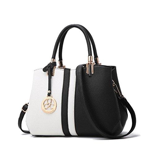 CLOTHES- L'Europa e le borse del sacchetto delle signore di modo di modo degli Stati Uniti La borsa del messaggero della spalla di modo di personalità selvaggia ha colpito il sacchetto di colore del s Nero