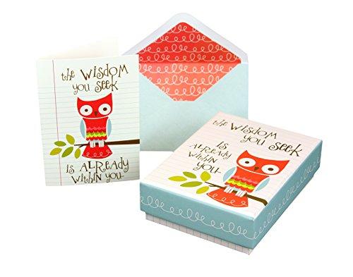 10Note Karten & 11Passende Briefumschläge W/Awesome Andenken Box; Inspirierende Innen blanko, Grußkarten-