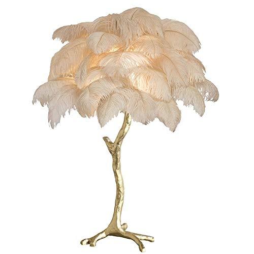 Kupfer-feder Tischlampe (Feder tischlampe schlafzimmer nachttischlampe kupfer mode luxusamerikanische villa hotel clubhaus wohnzimmer dekoration lampe)