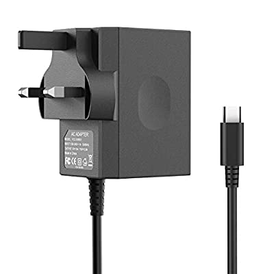 Charger for Nintendo Switch,Power Adapter Fast Travel Wall Charger with 5ft USB Type C Power Supply Cord 15V 2.6A AC Adapter for Nintendo Switch Dock / Pro Controller Supports TV Mode,Black