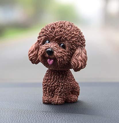 Fontee Auto Nette Nicken Schütteln Kopf Hund Puppe Verzierungen Auto Interieur Innendekoration Bobblehead Wackelkopf Dashboard Dekoration (Teddy Braun) - Aus Verzierungen