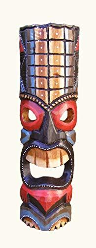 Generic Tiki Maske, Holz geschnitzt Hand Made, 50cm hoch, Fair Trade