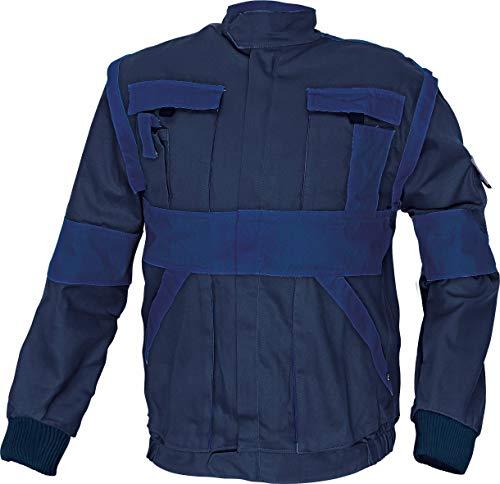 Stenso Chaqueta Chaleco de Trabajo Multiusos MAX - Ropa de Trabajo para Hombre - 2 en 1 para Todo el año - Azul Marino/Azul - XL (EU56)