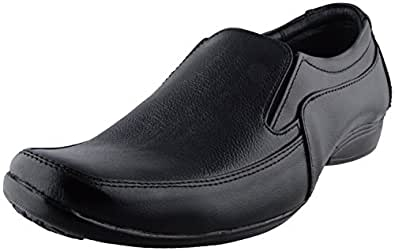 Candle Men's Black Leather Formal Shoes - 10, Candle_2