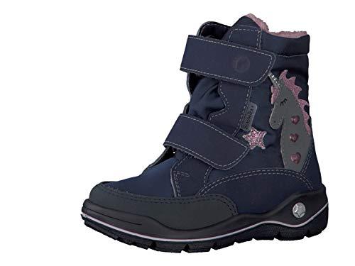 RICOSTA Pepino by Mädchen Winterstiefel Annika, WMS: Mittel, wasserfest, Winter-Boots Outdoor-Kinderschuhe gefüttert,Marine/Nautic,30 EU / 11.5 UK