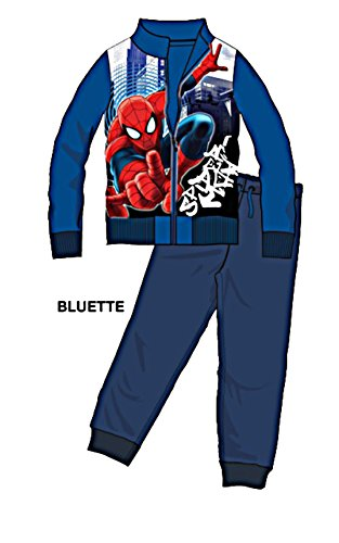 Marvel tuta spider-man 15820 (anni 5, bluette)