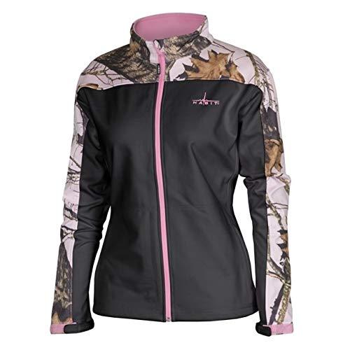 Habit Damen Softshelljacke, Mossy Oak New Break Up Pink/Bright White, Medium - Mossy Oak Camouflage Kleidung