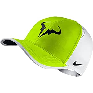 Nike 715146-702 Rafa Featherlight CA Dri-Lux Tennis Cap, Men's (White)
