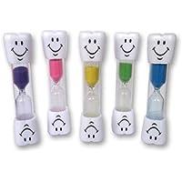 STONCEL Temporizador de cepillo de dientes para niños ~ Temporizador de arena sonriente de 2 minutos para cepillar los dientes de los niños (Azul)