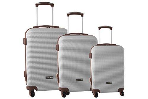 Set valigie trolley 3 pezzi rigido PIERRE CARDIN beige cabina da viaggio S329