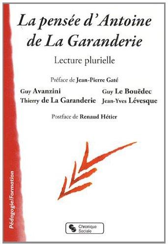 La pensée d'Antoine de la Garanderie : Lecture plurielle par Jean-Pierre Gaté, Collectif