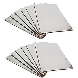 Wooya 12Pcs 14x20 5Mm Sound Deadener Car Heat Shield Isolierung Mat Sound Insulation Cotton