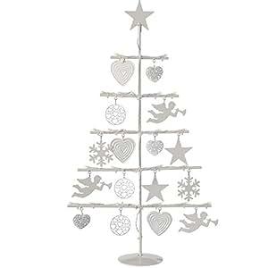 Werchristmas weihnachtsbaum metall 58 cm mit lichterkette mit 21 leds weihnachtsdeko - Amazon weihnachtsbaum ...