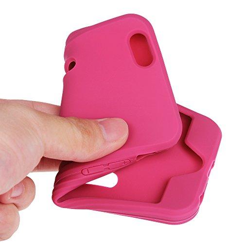 Fintie Apple iPhone 6 Plus / iPhone 6S Plus Armband / Hülle - [CaseBot Sportsarmband] Laufen & Training Sport Armband mit Premium Flexibel Abnehmbar Silikon Handy Hülle Case Etui für Apple iPhone 6 Pl Magenta