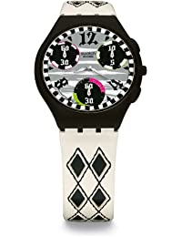 Swatch SUYB118 - Reloj unisex de cuarzo, correa de piel color varios colores