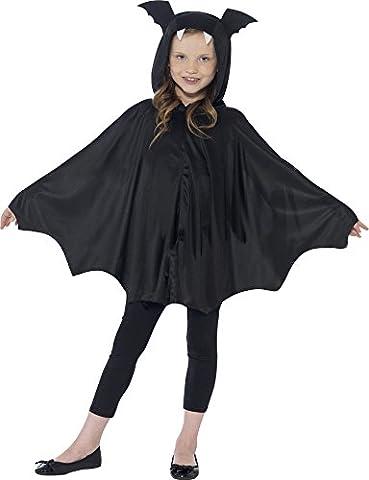Smiffys Déguisement Enfant, Cape chauve-souris, Âge 7-12 ans, Couleur: Noir, 44324