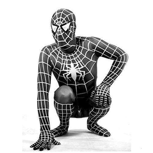 Marvel Captain Schwarz America Kostüm Helden - WLDSH COSPLAY Classic Cosplay Erwachsenes Kind Schwarz Außerordentliches Spider-Man Siamesische Strumpfhose Partykostüm (größe : XXXL)
