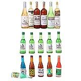 Baoblaze 3 Sets Juegos Pretender Botella de Shochu Decoraciones de Comedor Colecciones para 1/12 Escala de Casa de Muñecas