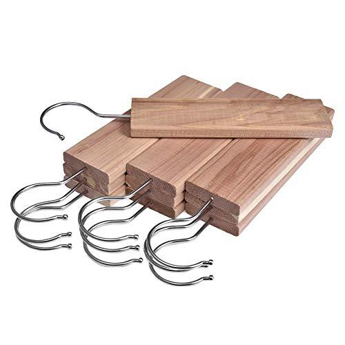 Letway Perchas de cedro 10 piezas Con fragancia de cedro Duradero Libre...