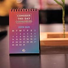 """Thinkpot 2019 Don't Quit Compact Motivational Calendar - 6"""" X 4"""""""