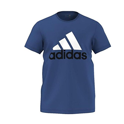 adidas Herren T-shirt Essentials Big Logo, Blau/Weiß, M, 561955811 (Performance T-shirt Climalite)