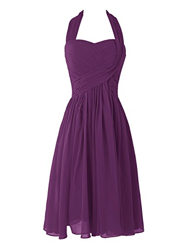 Dresstells Sweetheart Damen Chiffon Homecoming Kleider Kurz Brautjungfernkleider Grape