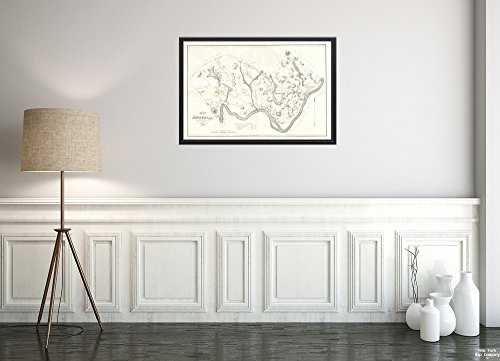 New York Map Company () 1832 Karte Essex-Haverhill von Haverhill, Massachusetts teilweise Katasterkarte mit Namen der LAN-Historischer antiker Vintage-Nachdruck, fertig zum - Antike Kostüm Zum Verkauf