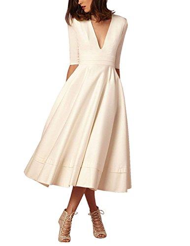 on sale 749e6 11476 carinacoco Donna Vestiti Lunghi da Matrimonio Elegante Collo ...