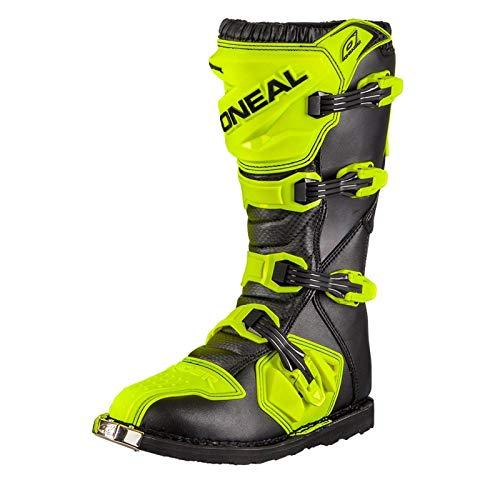O'Neal Rider Boot MX Stiefel Hi-Viz Neon Gelb Motocross Enduro Motorrad, 0329-5, Größe 46