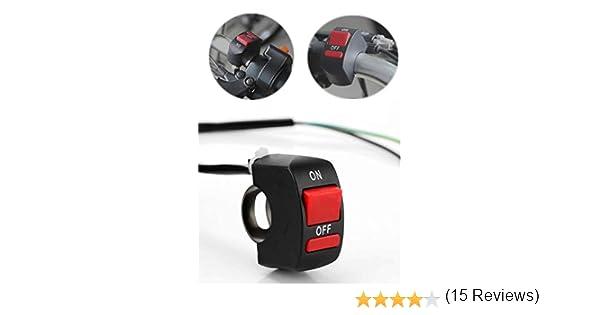 Sunsbell Moto 7//8 frontale universale manubrio Interruttore di nebbia della luce del punto di montaggio Interruttore CC 12V per moto