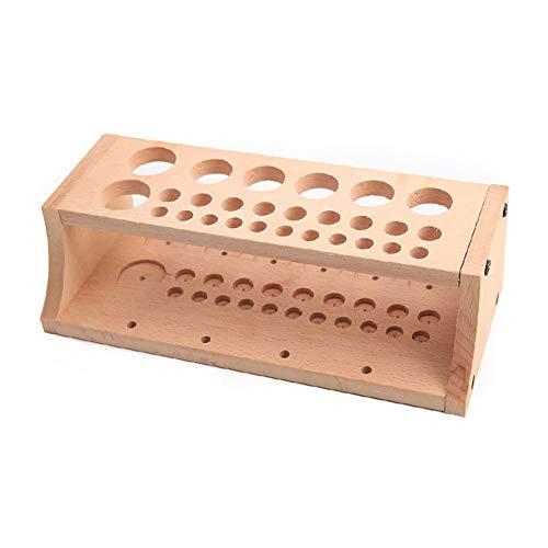 Aufbewahrungsregal mit mehreren Löchern aus Holz, einfache Montage, praktischer Ständer, langlebiger Halter, Organizer, Leder-Werkzeuge