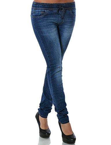 Damen Jeans Hose Skinny (Röhre) No 14192, Farbe:Blau;Größe:44 / 2XL