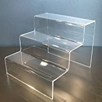 SMALL 3 TIER/STEP ACRYLIC DISPLAY STAND RETAIL SHOP RISER - PDS9019