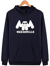 SIMYJOY Pärchen Marshmello Fans DJ Kapuzenpullover EDM Cool Elektrischer Ton Hoodie für Liebespaar Herren Damen Teenager Jugendliche