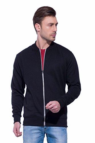 Alan Jones Clothing Men's Full Sleeve Solid Sweatshirt(SS17-BN01-BCK-XL, Black)