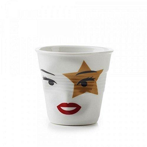 Revol - Gobelet froissé blanc Mme Rock Star 8cl