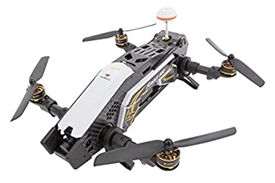 XciteRC 15003800 FPV Racing Furious 320 RTF Quadcopter with Full HD Camera, GPS, OSD, Battery, Charger and Devo 10 Transmitter, White