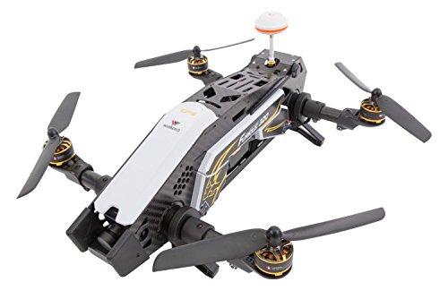 XciteRC 15003800-FPV Racing Quadrocopter Furious 320RTF con Full HD Fotocamera, GPS, OSD, Batteria, Caricabatterie e Telecomando Devo 10, Bianco