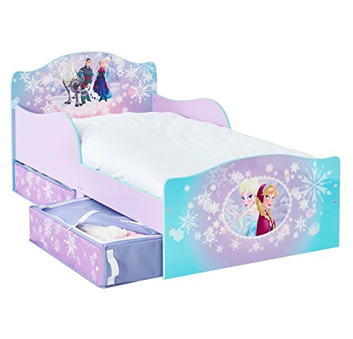 Disney Frozen Kids Toddler Bed with Underbed Storage by HelloHome