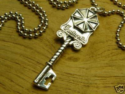 Kostüm Evil Resident Leon - Resident Evil Biohazard Mansion-Schlüssel Halskette | Kostüm Cosplay Leon Chris Wesker Jill