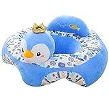 Funda para sofá de bebé de felpa con dibujos animados y asiento de felpa suave, extraíble, lavable, cojín...