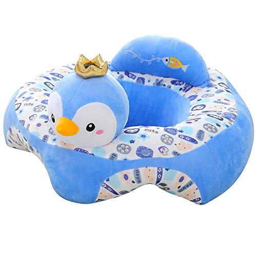 Funda para sofá de bebé de felpa con dibujos animados y asiento de felpa suave, extraíble, lavable...