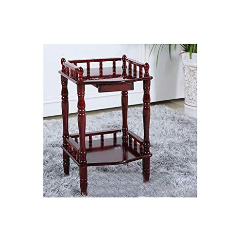 WEN Wohnzimmer Holzboden Tisch Mahagoni Farbe Massivholz Couchtisch Wohnzimmer Telefon Rack Montage Einfache Möbel (größe : B) -