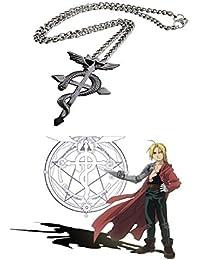 Idea collar Full Metal Alchemist Edward Elric medicina Club de Winged serpiente colgante cruz Hombres Mujeres