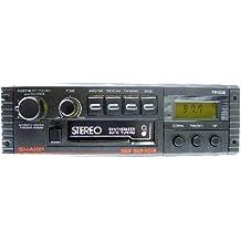Radio-Casete Estéreo para coche SHARP RG-F554E(BK) - Sintonizador PLL digital con 15 presintonias, control de tonos y balance